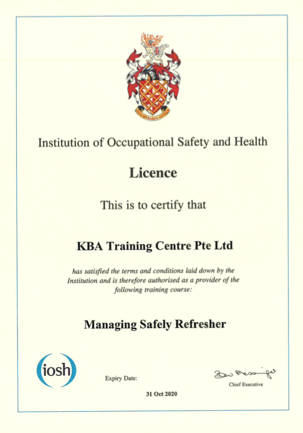 IOSH Leading Safely Refresher
