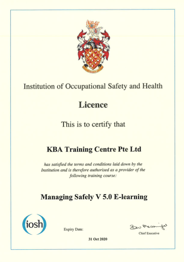 IOSH Managing Safely V5 E-Learning