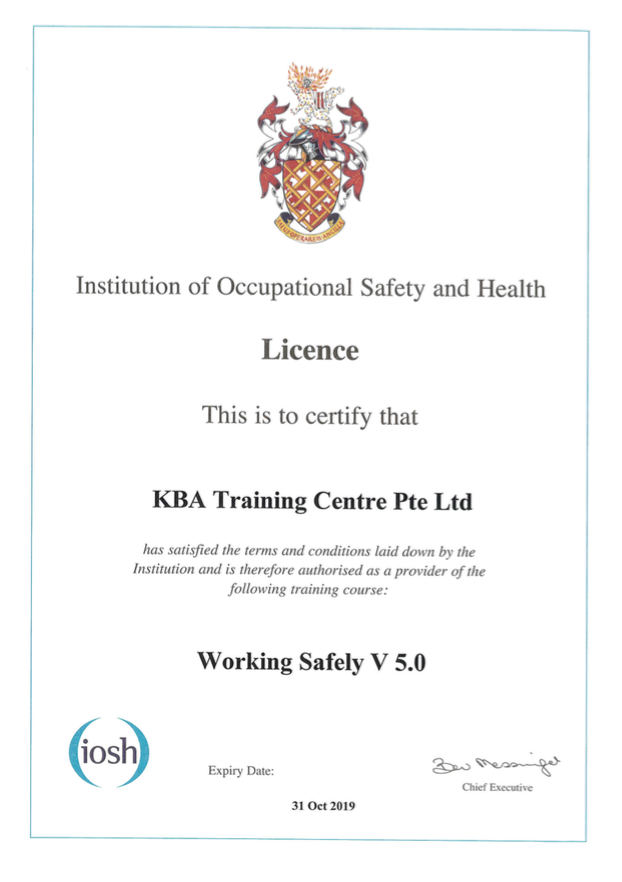 IOSH Working Safely V5