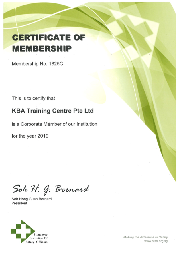 Singapore Institution of Safety Officers Membership