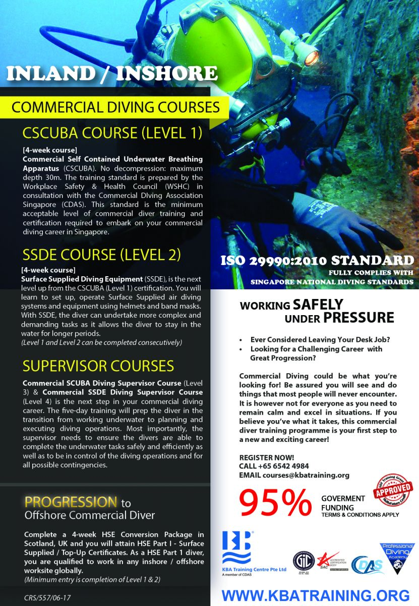 Progression Training to Offshore Commercial Diver