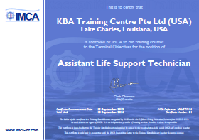 IMCA Assistant Life Support Technician - USA Certification