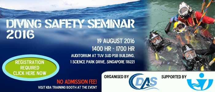 Visit KBA Training at Diving Safety Seminar 2016