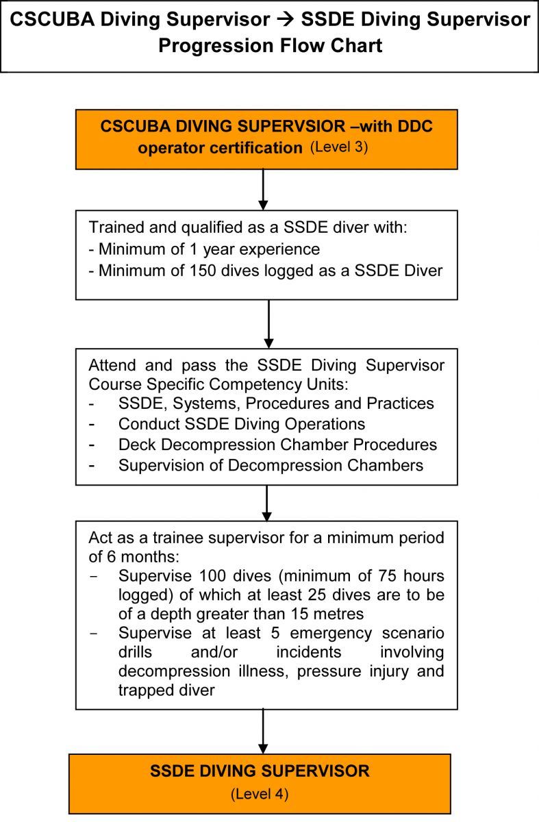 Diver Progression - CSCUBA Diving Supervisor to SSDE Diving Supervisor (Level 3 to 4)