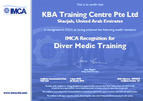 IMCA Diver Medic Technician - UAE Certification