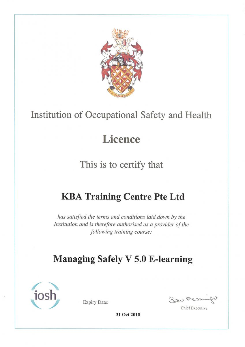 IOSH Managing Safely - E-Learning Certification