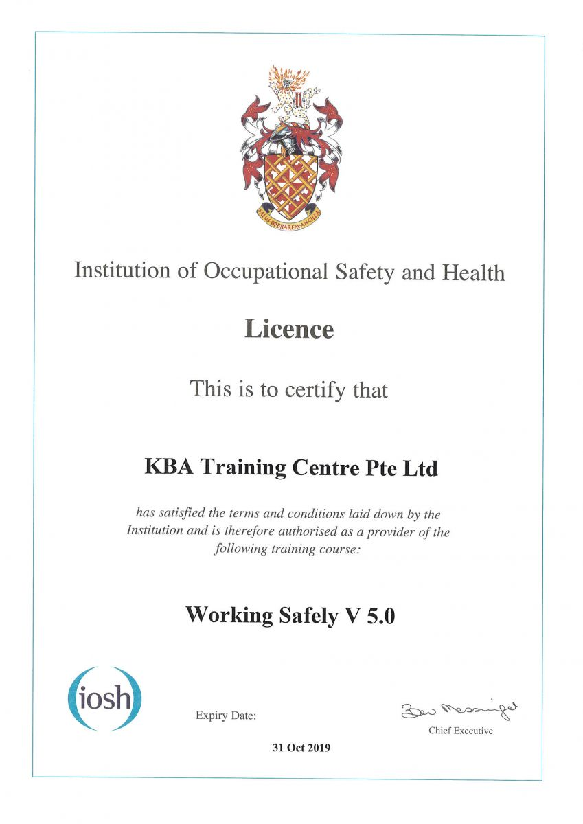 IOSH Working Safely - V5