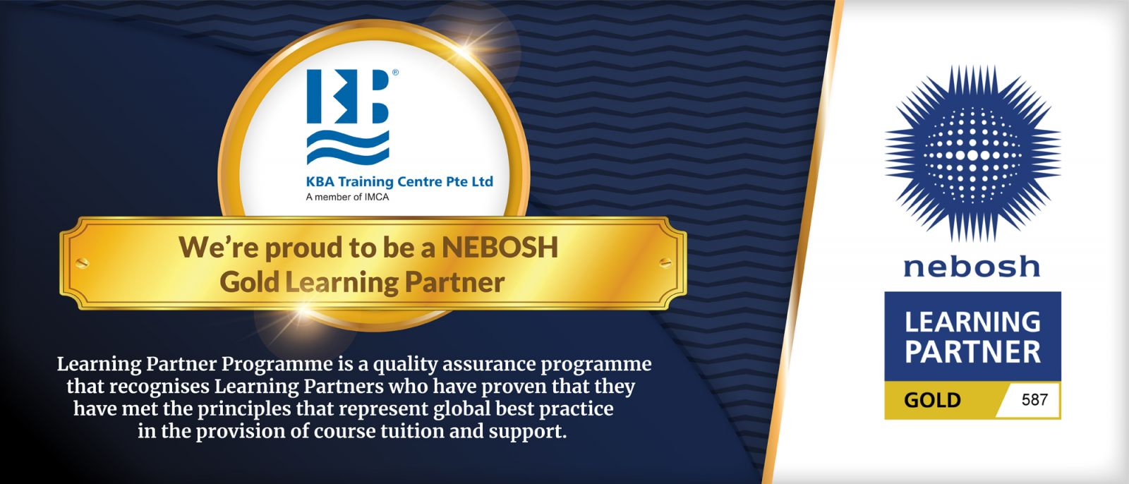KBA Training Centre - NEBOSH Gold Learning Partner