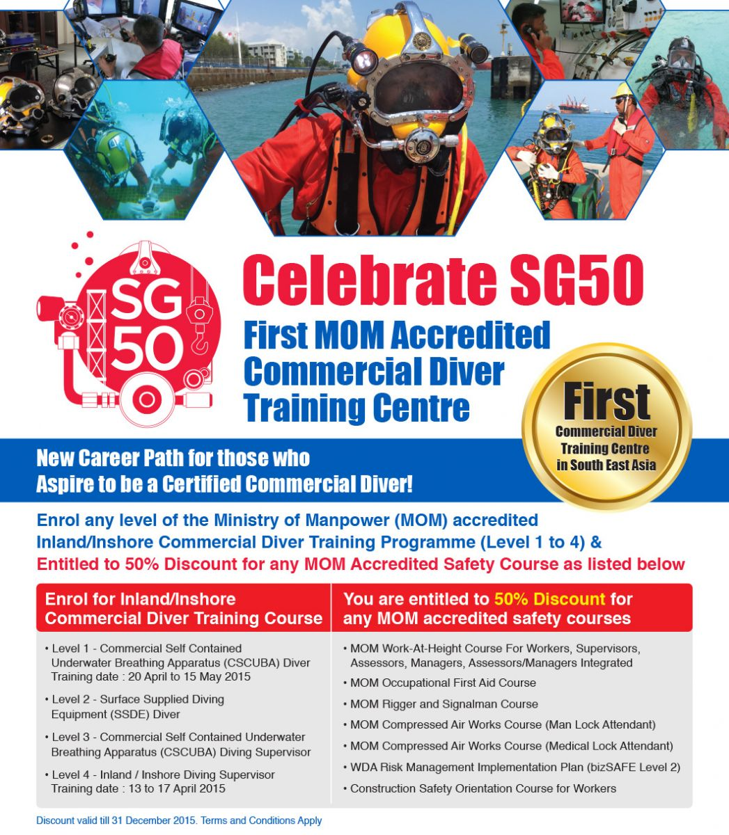 KBAT, SG50 MOM Accredited Diving Course - Promotion Flyer