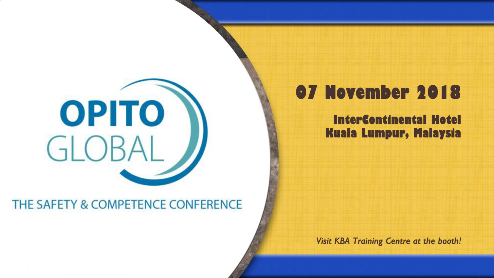 Visit KBA Training at OPITO Global 2018