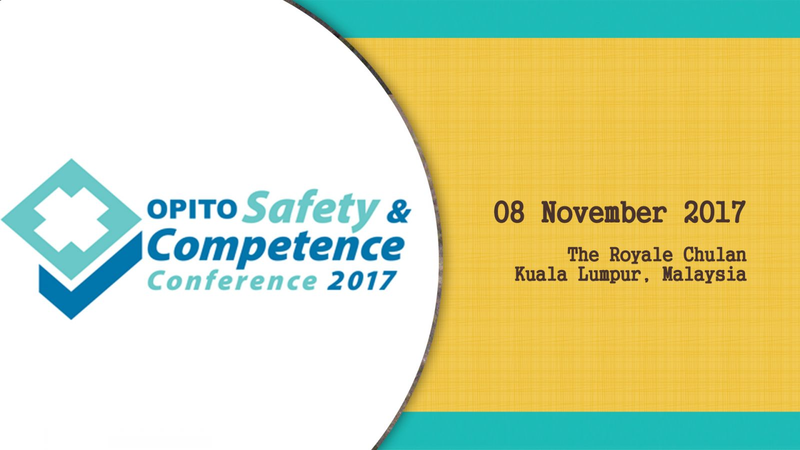 OPITO Safety & Competence Conference 2017 Event Banner