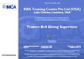 IMCA Trainee Bell Diving Supervisor - USA Certification