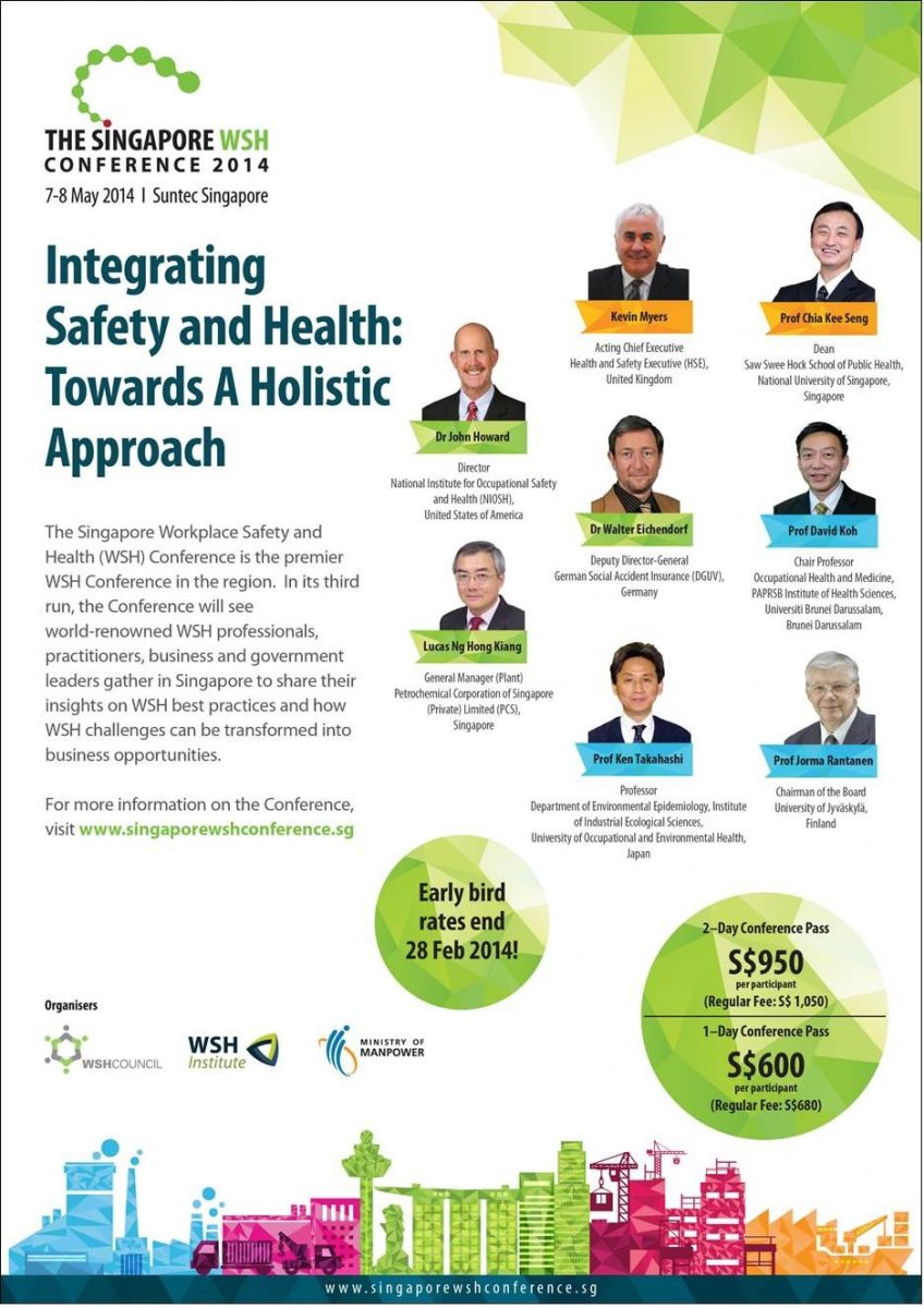 Invitation to the Singapore WSH Conference 2014
