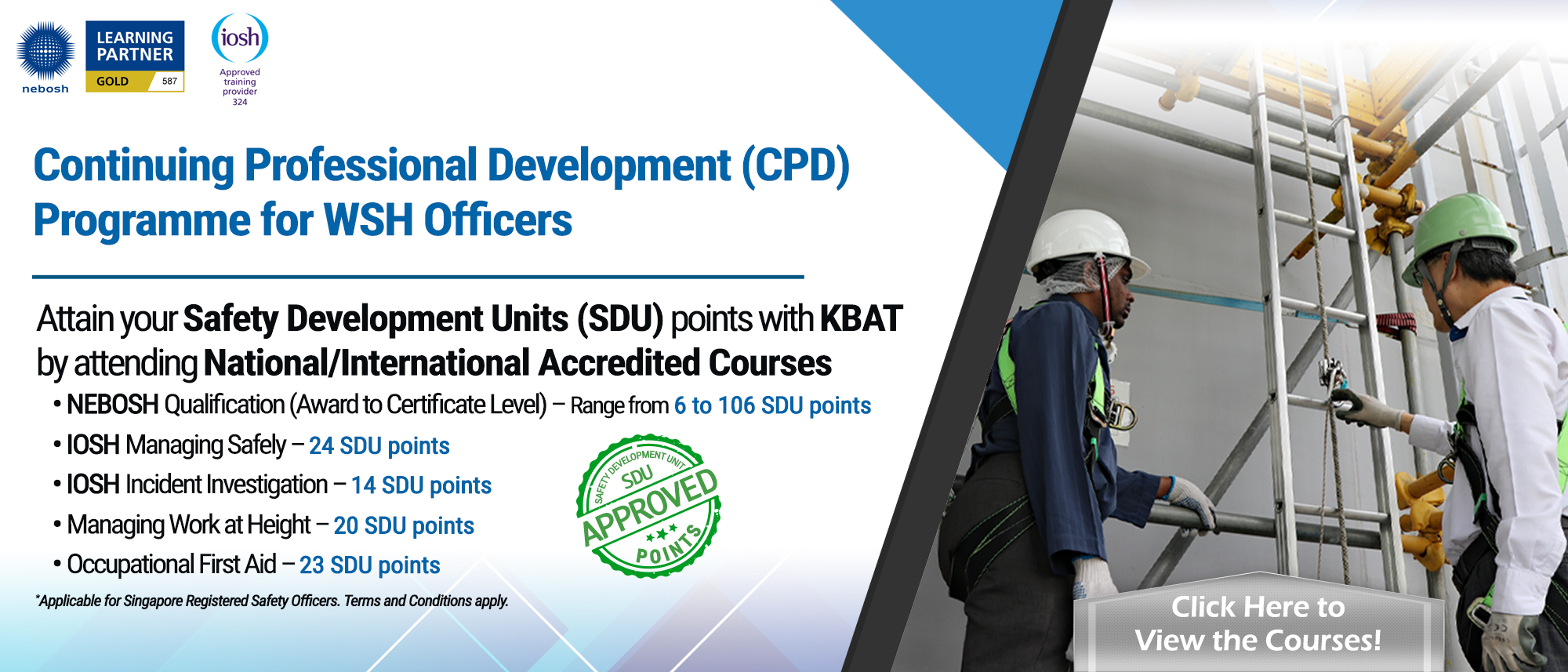 Continuing Professional Development (CPD) Programme for Safety Officers